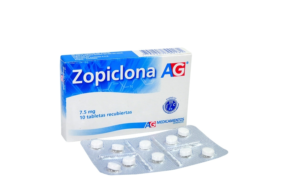 Zopiclona 7.5 mg Caja Con 10 Tabletas RX