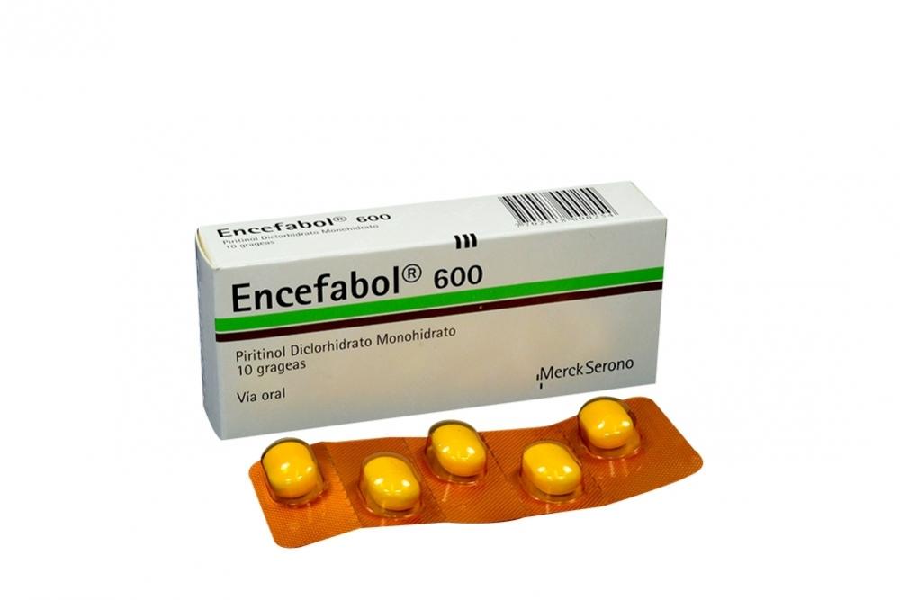 Encefabol 600 mg Caja Con 10 Grageas Rx