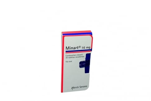 Minart 16 mg Caja Con 30 Tabletas Recubiertas Rx4
