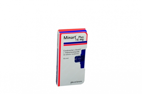 Minart Plus 16 mg Caja Con 30 Tabletas Recubiertas Rx4
