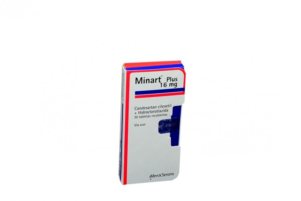 Minart Plus 16 mg Caja Con 30 Tabletas Recubiertas Rx4 Rx1