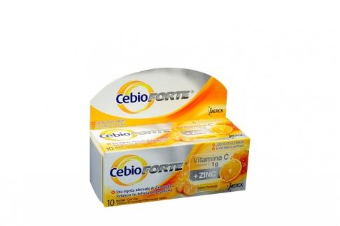 Cebio Forte Sabor Naranja Caja Con Tubo Con 10 Tabletas Efervescentes