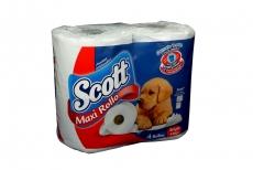 Papel Higiénico Scott Maxi Rollo Empaque Con 4 Unidades