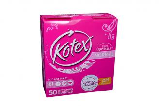 Protectores Kotex Days Duo Paquete Con 50 Unidades