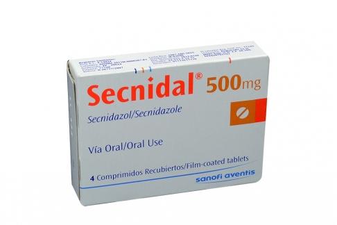 Secnidal 500 mg Caja Con 4 Comprimidos Recubiertos Rx