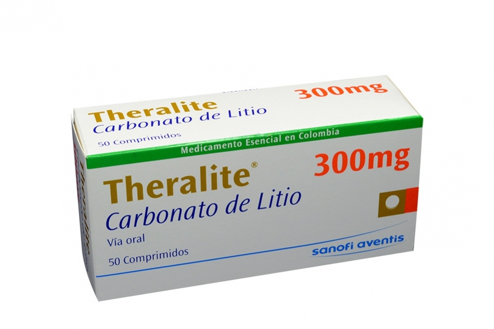 Theralite 300 mg Caja X 50 Comprimidos Rx