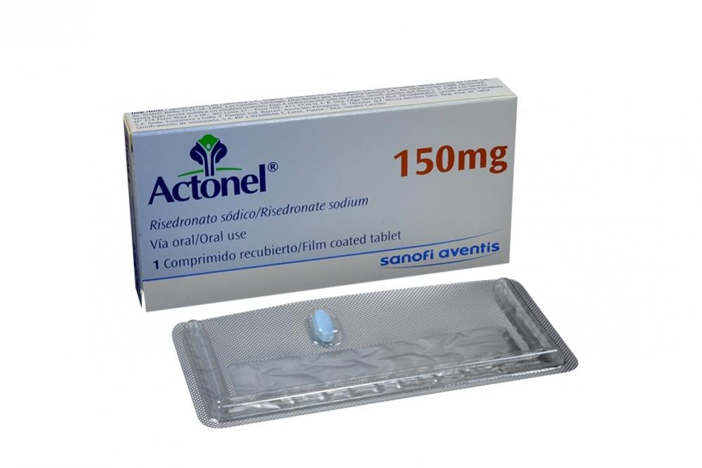 Actonel 150 mg Caja Con 1 Comprimido Recubierto Rx4 Rx1