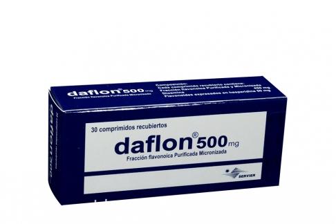 Daflon 500 mg Caja Con 30 Comprimidos Recubiertos Rx4