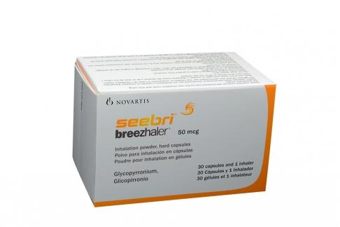 Seebri Breezhaler 50 mcg Polvo Para Inhalación Caja Con 30 Cápsulas + 1 Inhalador Rx