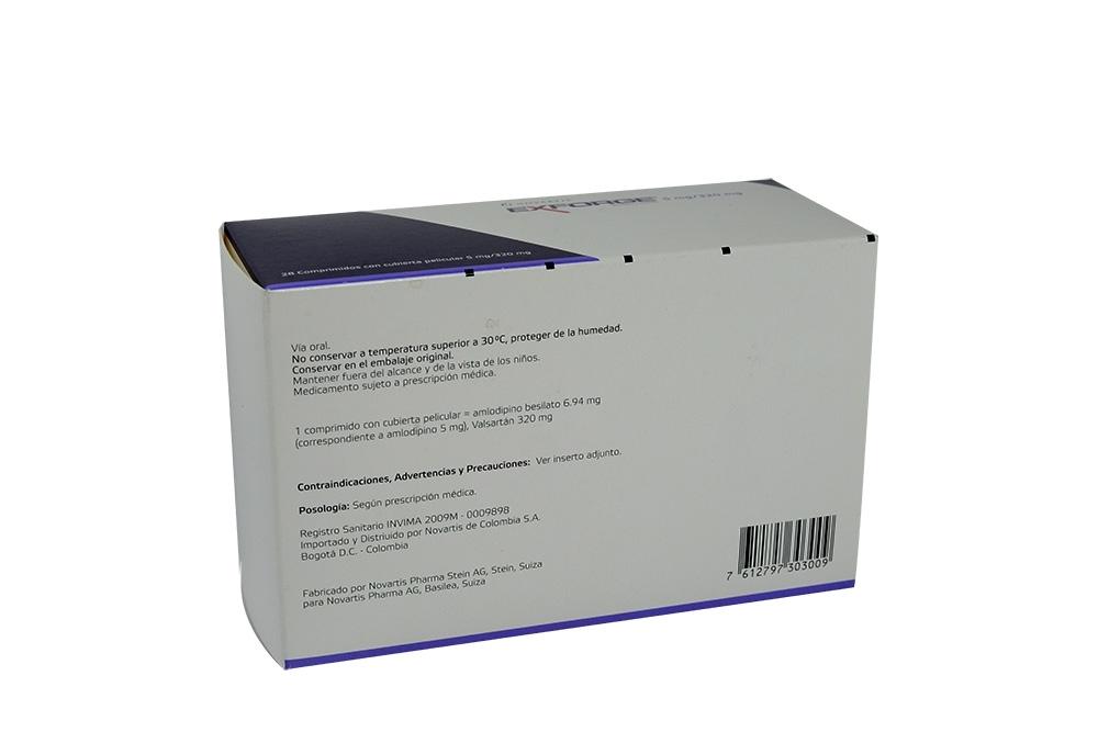 Valsartan 320 Mg Precio Colombia