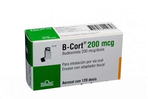 B Cort 200 mcg Caja Con Aerosol Con 120 Dosis Rx4