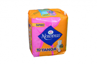 Toallas Nosotras Tanga Rapisec Paquete Con 10 Unidades