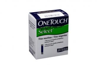 Tiras Reactivas One Touch Select Caja Con 25 Unidades