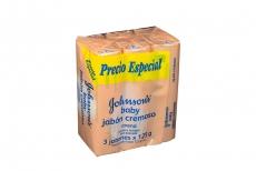 Johnson's Baby Jabón Cremoso Avena Empaque Con 3 Barras Con 125 g C/U