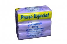 Jabón Johnson's Baby Pack x 3 Unidades