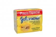 Jabón Johnson's Crema De Vainilla Y Macadamia Empaque Con 3 Unidades