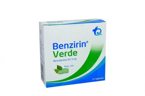 Benzirin 3 mg Verde Caja Con 12 Tabletas