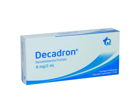 Decadron 8 mg / 2 mL Caja Con 1 Jeringa Prellenada Con 2 mL Rx