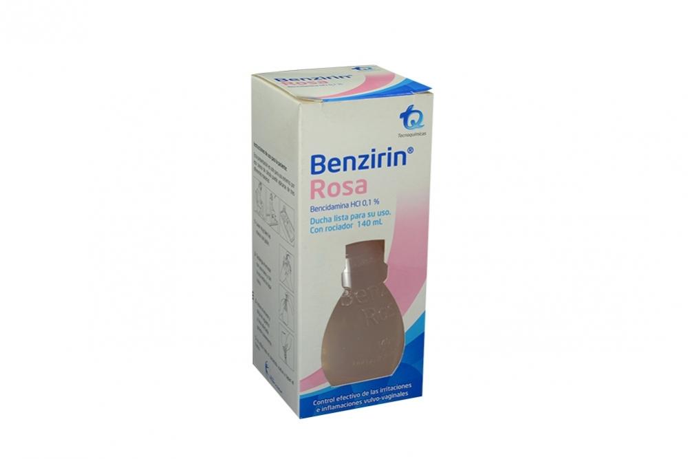 Benzirin Rosa Caja Con Frasco Rociador De 140 mL Rx