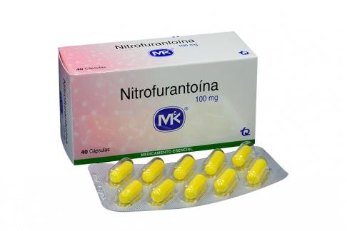 Nitrofurantoína 100 mg Caja Con 40 Cápsulas Rx2