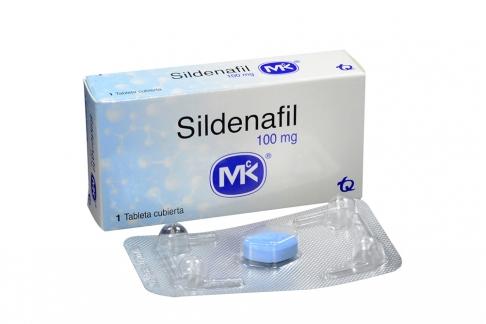 Sildenafil Mk 100 mg Caja X 1 Tableta Recubierta Rx