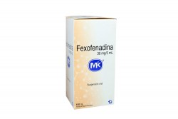 Fexofenadina 30 mg / 5 mL Caja Con Frasco Con 150 mL Rx