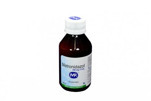 Metronidazol 250 mg / 5 mL Suspensión Frasco Con 120 mL Rx2