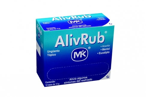 AlivRub Ungüento Tópico Caja Con Latas Con 12 g - Mentol