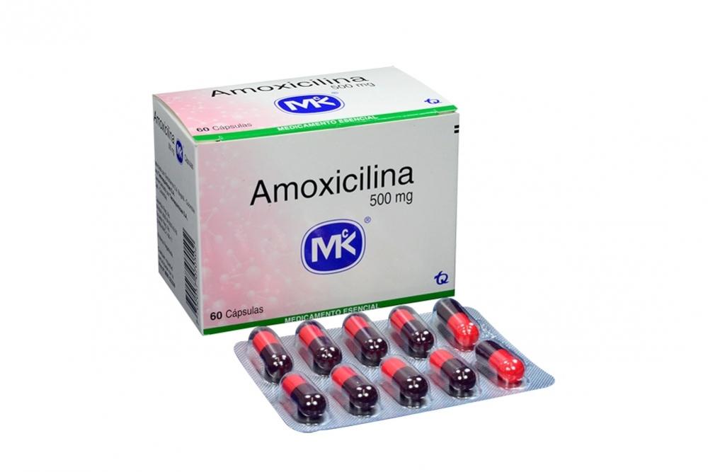 Amoxicilina 500 mg Caja Con 60 Cápsulas Rx2