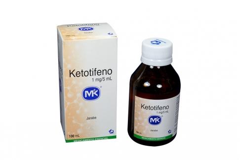 Ketotifeno 1 mg / 5 mL Jarabe Caja Con Frasco Con 100 mL Rx