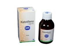 Ketotifeno Jarabe 1 mg / 5 mL Caja Con Frasco Con 100 mL Rx