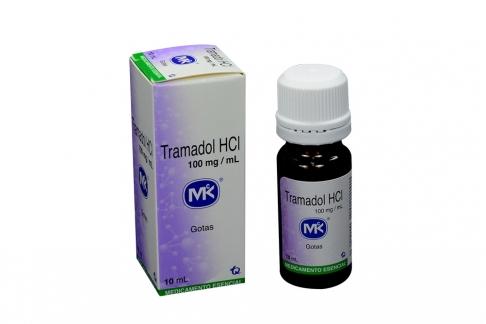 Tramadol HCI 100 mg Caja Con Frasco Gotero x 10 mL Rx