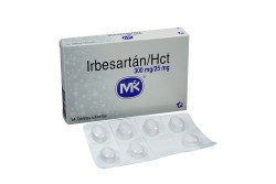 Irbesartán Hct 300 / 25 mg Caja Con 14 Tabletas Rx4