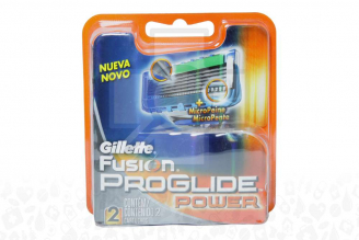 Repuesto Máquina Para Afeitar Gillette Fusion Proglide Power Caja Con 2 Cartuchos