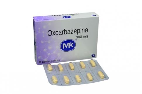 Oxcarbazepina 300 mg Caja Con 20 Tabletas Cubiertas Rx