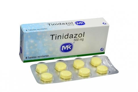 Tinidazol 500 mg Caja Con 8 Tabletas Rx2
