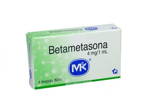 Betametasona 4 mg / 1 mL Caja Con 1 Ampolla Rx
