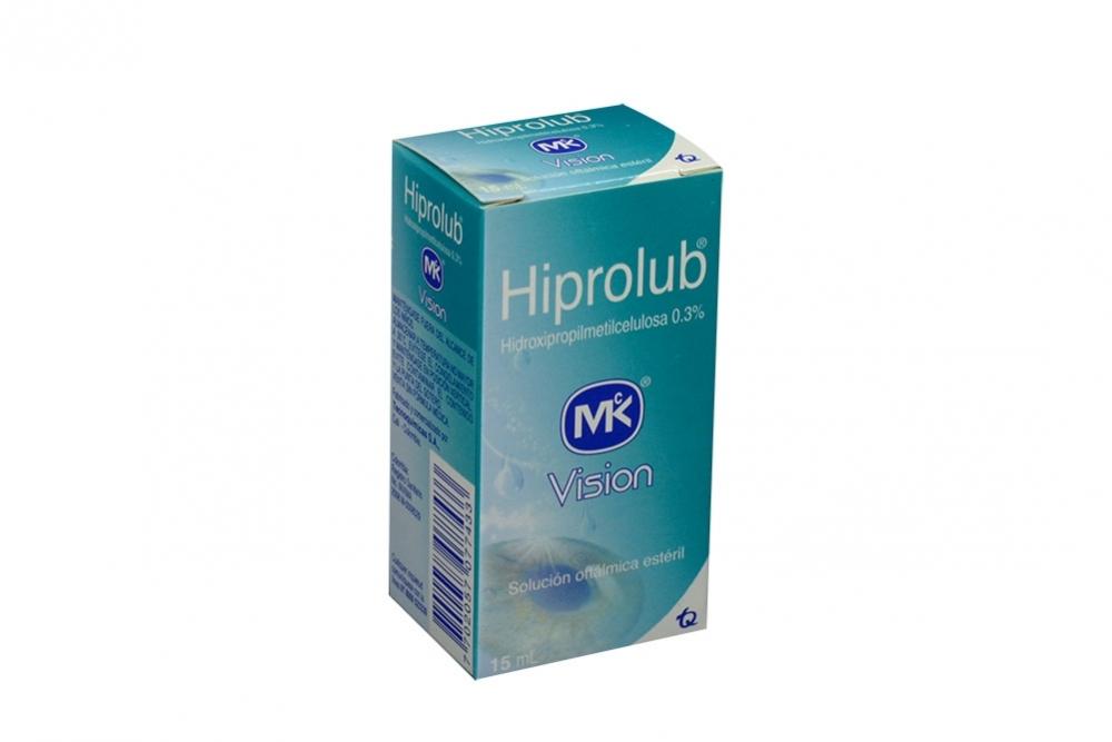 Hiprolub 0.3 % Solución Oftálmica Estéril Caja Con Gotero Con 15 mL