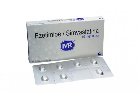 Ezetimibe + Simvastatina 10/20 Mg Caja X 14 Tabletas Rx