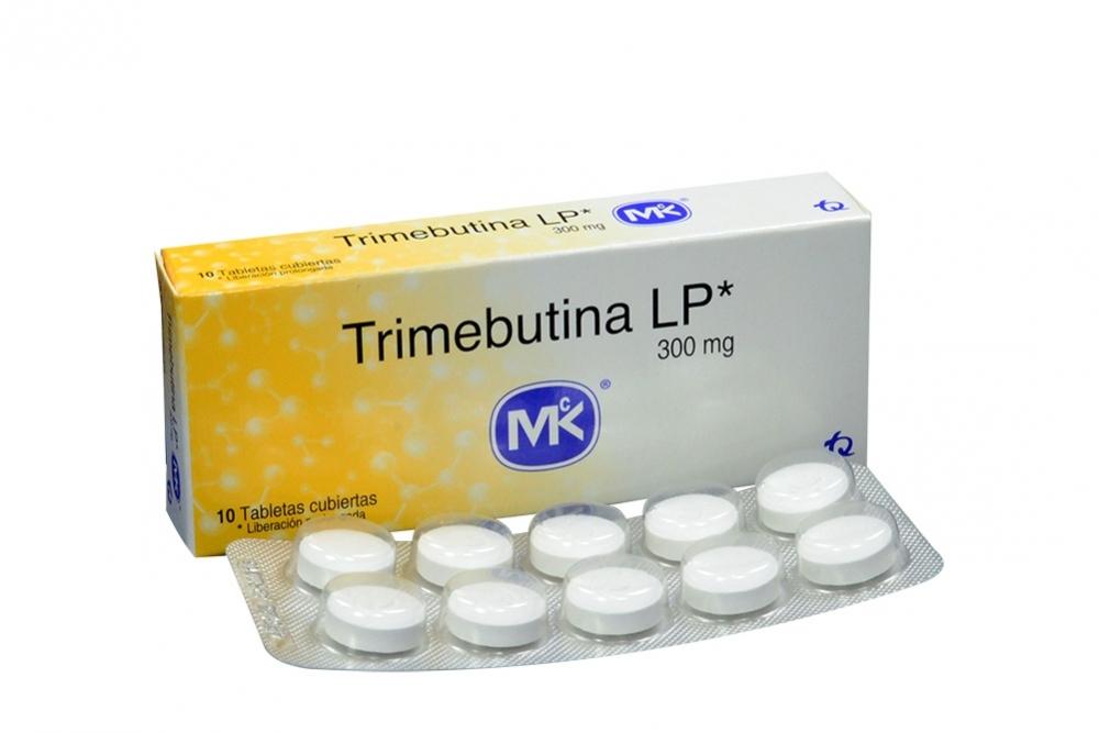 Trimebutina LP 300 mg MK Caja Con 10 Tabletas De Liberación Prolongada Rx