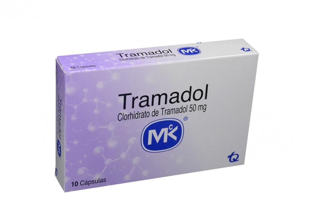 Tramadol 50 mg Caja Con 10 Cápsulas Rx