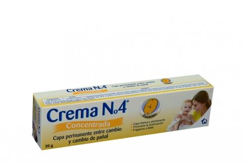 Crema No. 4 Concentrada Caja Con Tubo Con 20 g – Promueve Cicatrización