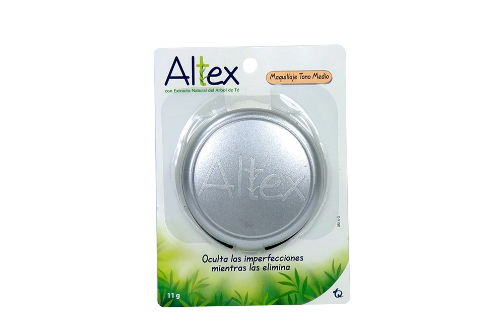 Altex Maquillaje Tono Medio Empaque Con Estuche Con 11 g