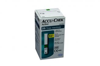 Tiras Reactivas De Glucemia Accu-Chek Active Caja Con 25 Unidades