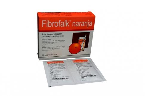 Fibrofalk Caja Con 10 Sobres Con 5 g - Sabor Naranja