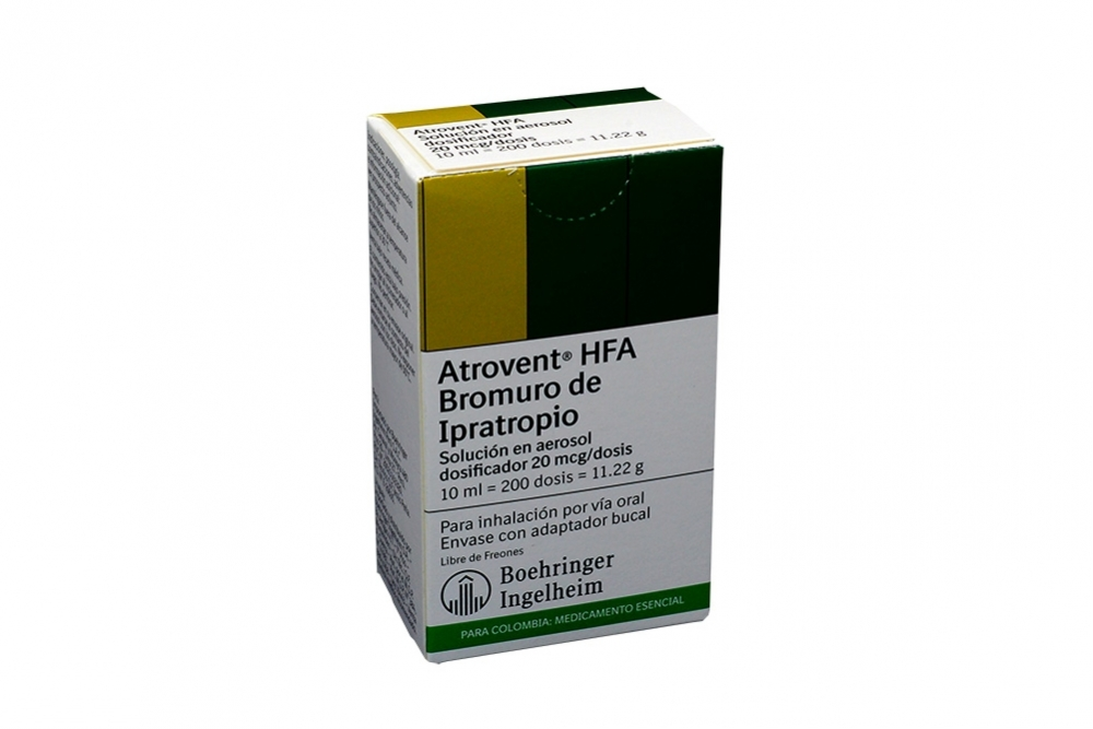 Atrovent Hfa Solución 20 mcg Caja Con Dosificador 10 mL Rx Rx1