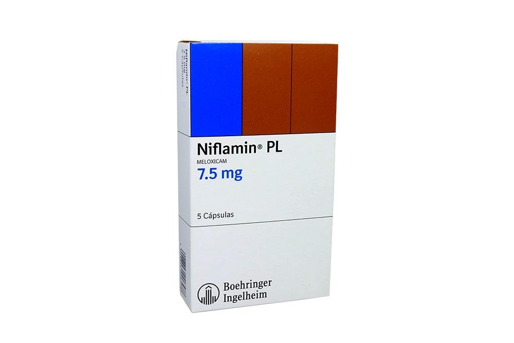 Niflamin PL 7.5 mg Caja Con 5 Cápsulas Rx