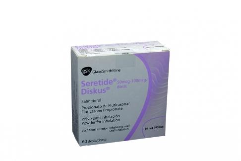Seretide Diskus Polvo Para Inhalación 50 / 100 mcg Caja Con 60 Dosis  Rx