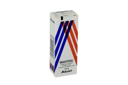 Maxitrol Ungüento Oftálmico Estéril 3500 /6000 UI / 1 mg Caja Con Frasco Con 3.5 g Rx3 Rx4