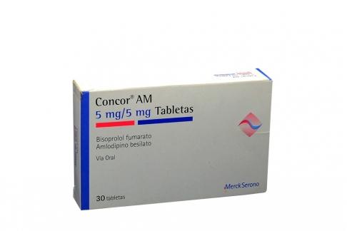 Concor AM 5 / 5 mg Caja Con 30 Tabletas Rx